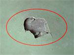 Разрушение финишного слоя полимерного покрытия