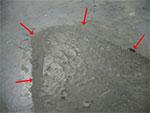 Непрофессиональный ремонт упрочненного слоя (топпинга)