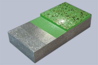 Наливное эпоксидное покрытие, декорированное цветными чипсами